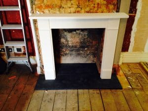 Honed Slate Hearth